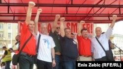 Svi sindikalni čelnici zajedno na prosvjedu u Zagrebu