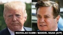 Раніше Трамп (зліва) вже називав розслідування Мюллера щодо Манафорта (справа) незаконним, заявивши, що «дивиться на нього інакше».