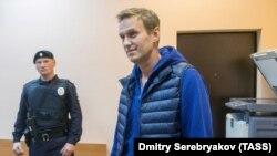 Алексей Навальный после задержания. Москва, 24 сентября 2018 года.