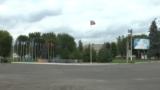 Головна площа міста Олександрівськ, що перебуває під контролем російських гібридних сил