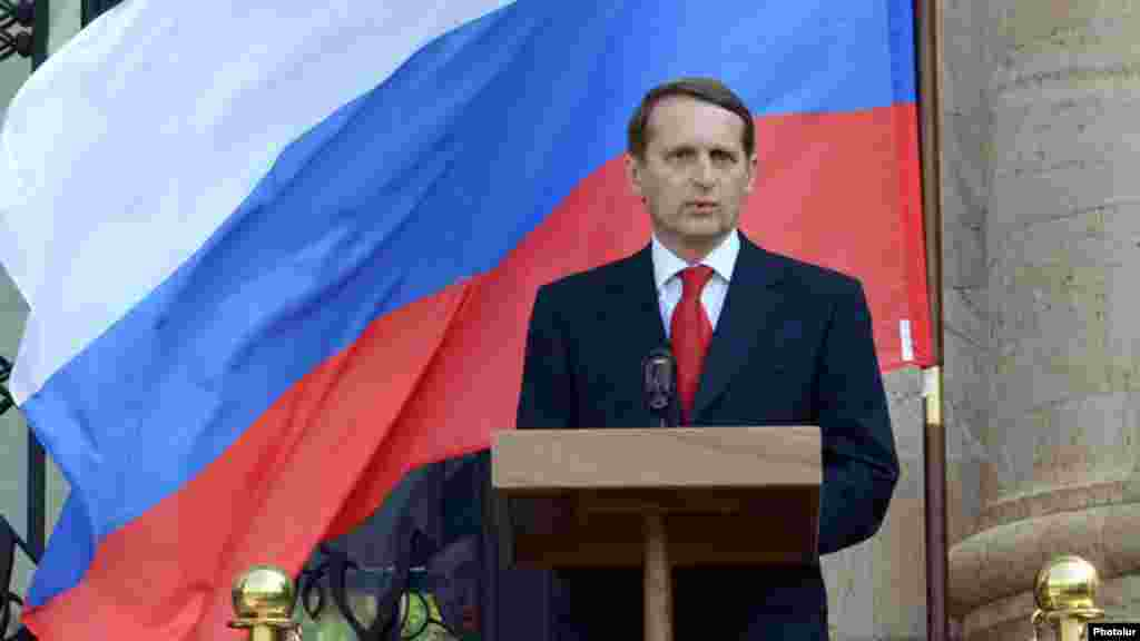 Sergei Naryshkin is the chairman of the State Duma and a member of the National Security Council of the Russian Federation.
