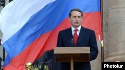 რუსეთის სახელმწიფო სათათბიროს თავმჯდომარე, სერგეი ნარიშკინი