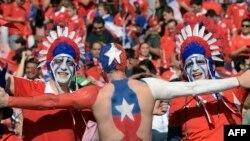 هواداران تیم شیلی