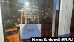 Zatvoren restoran u Sarajevu, 7. april 2020.
