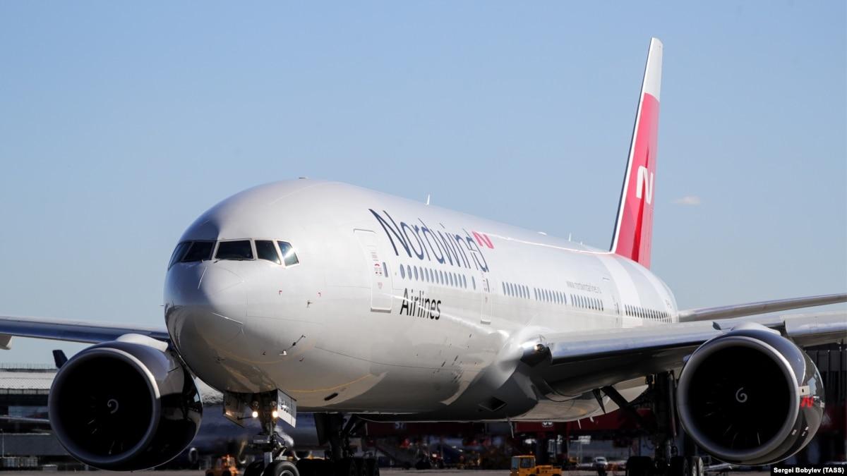 Российский самолет Nordwind возвращается из Каракаса в Москву