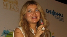 Gulnara Karimova speaking at a press conference held near Tashkent, 17Aug2012