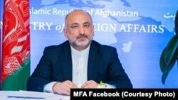 محمد حنیف اتمر وزیر خارجه افغانستان