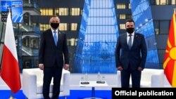Брисел- македонскиот премиер Зоран Заев и полскиот претседател Анджеј Дуда на средба на маргините на самиотот на НАТО, 14.06.2021.