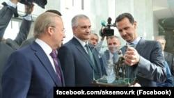 Российский глава Крыма Сергей Аксенов на встрече с президентом Сирии Башаром Асадом, 16 октября 2018 год
