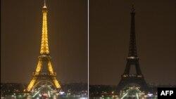 Ейфелева вежа позаторік під час «Години Землі»