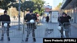 Сотрудники сил безопаности в Подгорице.