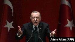 Президент Турции Реджеп Тайип Эрдоган. Анкара, 30 марта 2018 года.