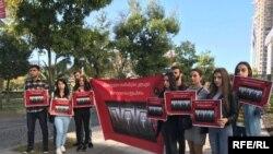 Участники акции пришли с плакатами «Азартные игры убивают»