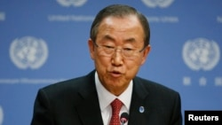 دبیر کل سازمان ملل متحد خواسته بود تا یک گروه بالغ بر صد کارشناس برای امحای جنگافزارهای شیمیایی در سوریه شکل گیرد