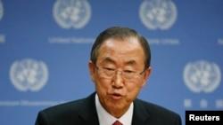 Ban Ki Mun na konferenciji za novinare, 3. septembar 2013.