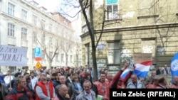 Prosvjedi radnika DIOKI-ja, Zagreb, ožujak 2012.