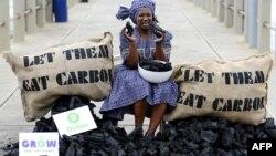 یک فعال طرفدار محیط زیست در دوربان آفریقای جنوبی سال ۲۰۱۱
