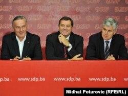 Čelnici vodećih bh. stranaka Zlatko Lagumdžija, Milorad Dodik i Dragan Čović, septembar 2011.