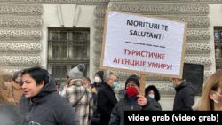 Protest upozorenja malih privrednika u Beogradu