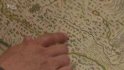 Колишня директорка бібліотеки Радіо Свобода показує старовинні карти України