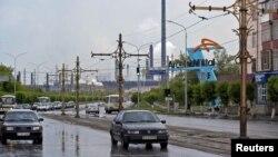 Центральная улица в городе Темиртау.