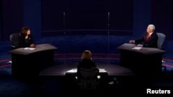 Кандидаты в вице-президенты США демократ Камала Харрис и республиканец Майк Пенс.