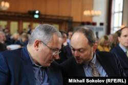 Михаил Ходорковский и Владимир Кара-Мурза младший в Берлине на Форуме Бориса Немцова, 2016 год
