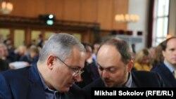 Vladmir Kara-Murza i Mihail Hodorkovski u Berlinu 10. oktobra 2016.