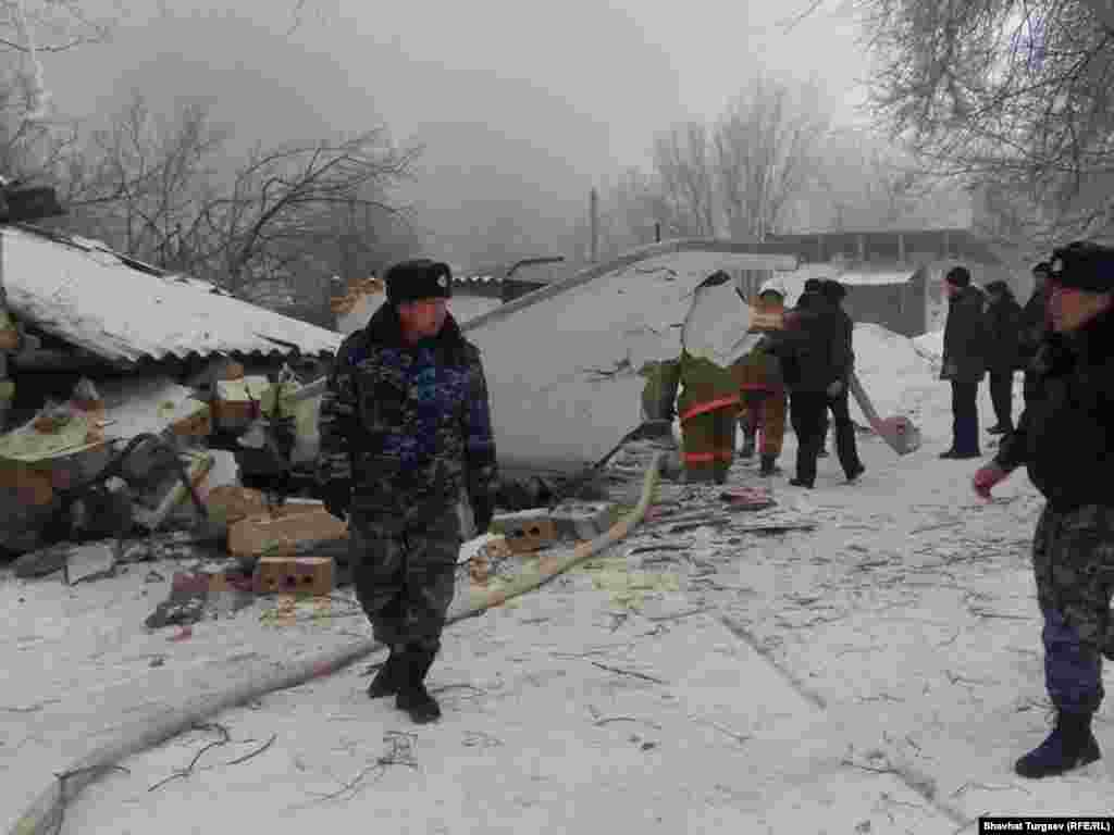 Early reports suggested the plane crashed while attempting to land for refueling at Manas International Airport outside the Kyrgyz capital, Bishkek.