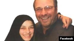 محمدباقر قالیباف و دخترش مریم