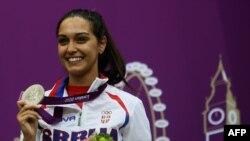 Ivana Maksimović sa srebrnom medaljom