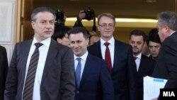 Политичките лидери по договорот на 1 март.