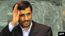 Ahmadinejad at the UN General Assembly in New York in September 2009