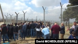 Протест против строительства тюрьмы в Рустави