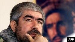 Abdul Rashid Dostum in Kabul in December 2001
