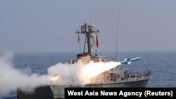 Manevre militare în Golful Oman organizate de forțele armate iraniene. 9 septembrie 2020