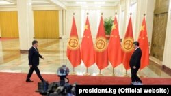 Лидер Китая Си Цзиньпин и президент Кыргызстана Сооронбай Жээнбеков, Пекин, 28 апреля 2019 г.