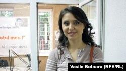 Valentina Nafornița în studioul Europei Libere