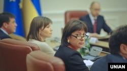 Міністр фінансів Наталія Яресько під час засідання кабінету міністрів. Архівне фото