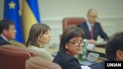 Міністр фінансів України Наталія Яресько під час засідання Кабінету міністрів України. Архівне фото