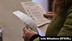 Buletine de vot la alegerile parlamentare din 2019