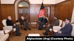 اشرف غنی با عبدرب رسول سیاف در ارگ ریاست جمهوری دیدار کرد.