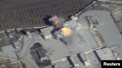 Один із російських повітряних ударів у Сирії