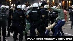 Սերբիա - Ցուցարարների և ոստիկանության բախումները Բելգրադում, 7-ը հուլիսի, 2020թ.