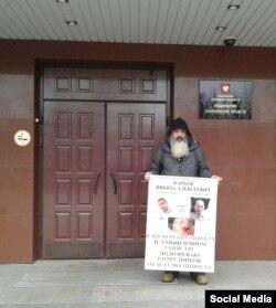 Алексей Жарков на одиночном пикете