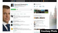 Imagine a contului Tweeter al lui Dmitri Medvedev
