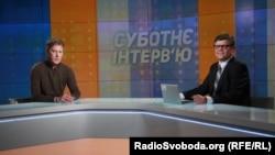Леонід Буряк у студії Радіо Свобода