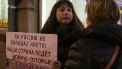 Антивоенный пикет в честь Дня мира в Санкт-Петербурге (видео)