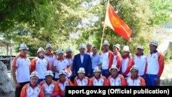 Кыргызстандын көк бөрү боюнча улуттук курама командасы. 14-август, 2017-жыл. Бишкек.