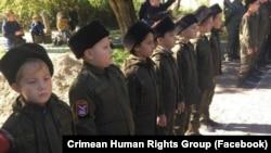 Школьники в Керчи принимают присягу казаков, архивное фото